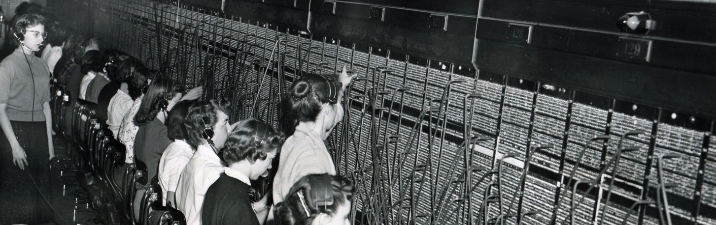Telephone switchboard operators in WW, 1957 (2)