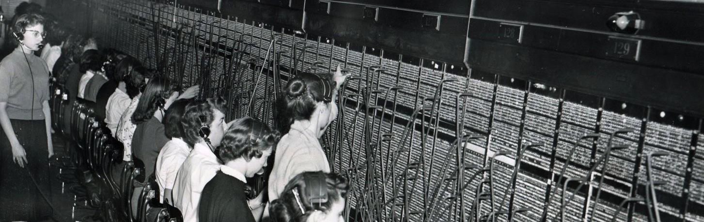 Telephone switchboard operators in WW, 1957 (2)