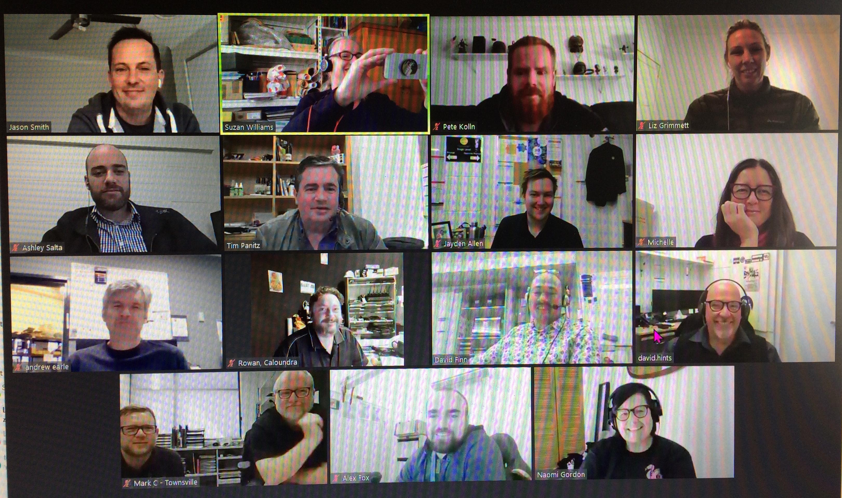 SQ's Technical members zoom meeting